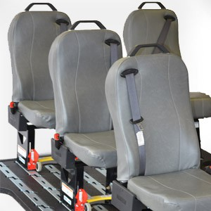 Quick Release StepNLock Seating for Vans